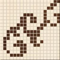 Mosaico Damasque Creme/Chocolat 31,5*31,5