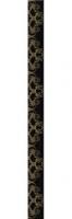 Listello Cage Doree Noir 7,5*94,9