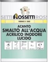 Акриловая эмаль без запаха, готовая к применению, не желтеющая (Acanto smalto all'acqua)