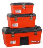 Комплект ящиков для инструмента с металлическими замками Intertool 3 шт (BX-1113 13/BX-1116 16.5/BX-1123 23.5) (BX-0007)