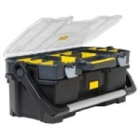 Профессиональный пластмассовый ящик со съемным органайзером STALEY