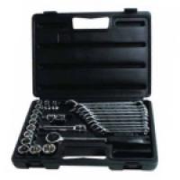 Набор торцевых головок 1/2 и комбинированных ключей (26 предметов) Stanley